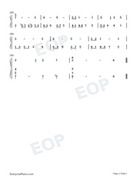 Castle In The Sky-Super Simple Edition Numbered Musical Notation Preview 2