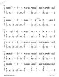 Let Her Go-Passenger Numbered Musical Notation Preview 3