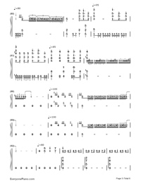 Part of Your World-The Little Mermaid OST Numbered Musical Notation Preview 5