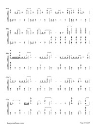 Let It Go Easy Version-Frozen Theme Numbered Musical Notation Preview 4