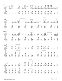 Let It Go Easy Version-Frozen Theme Numbered Musical Notation Preview 6