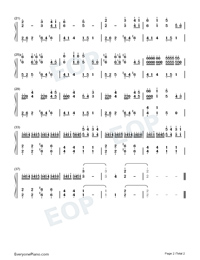 Legend of Sky-Original Music Numbered Musical Notation Preview 2