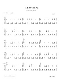 Lets Play Again-King of Glory BGM Numbered Musical Notation Preview 1