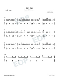 Funeral Flowers Numbered Musical Notation Preview 1