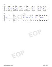 Two Tigers-Adapted Version-Frère Jacques Numbered Musical Notation Preview 2