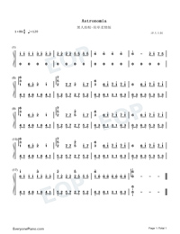 Astronomia-Easy Version-Coffin Dance Meme Song Numbered Musical Notation Preview 1