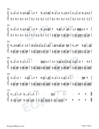 Break Up Song-Little Mix Numbered Musical Notation Preview 3