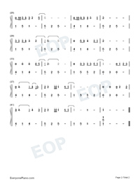Wonderful Tonight-Eric Clapton Numbered Musical Notation Preview 2