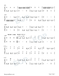 Homo Suites-Original Music Numbered Musical Notation Preview 5
