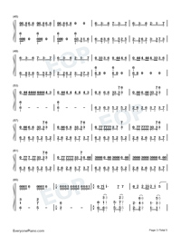 Mamacita Numbered Musical Notation Preview 3