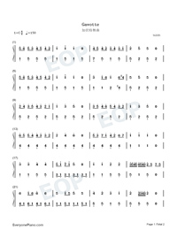 Gavotte-Easy Version-François-Joseph Gossec Numbered Musical Notation Preview 1