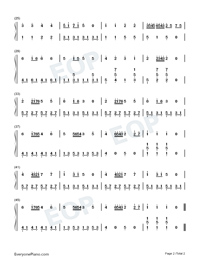 Gavotte-Easy Version-François-Joseph Gossec Numbered Musical Notation Preview 2