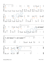 Let Us Sway Twin Oars-Easy Version Numbered Musical Notation Preview 2