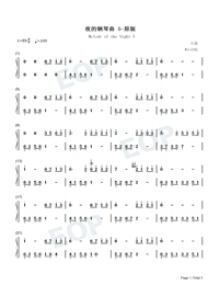 Melody Of The Night 5-Original Version Numbered Musical Notation Preview 1