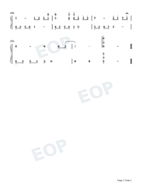 Melody Of The Night 5-Original Version Numbered Musical Notation Preview 3